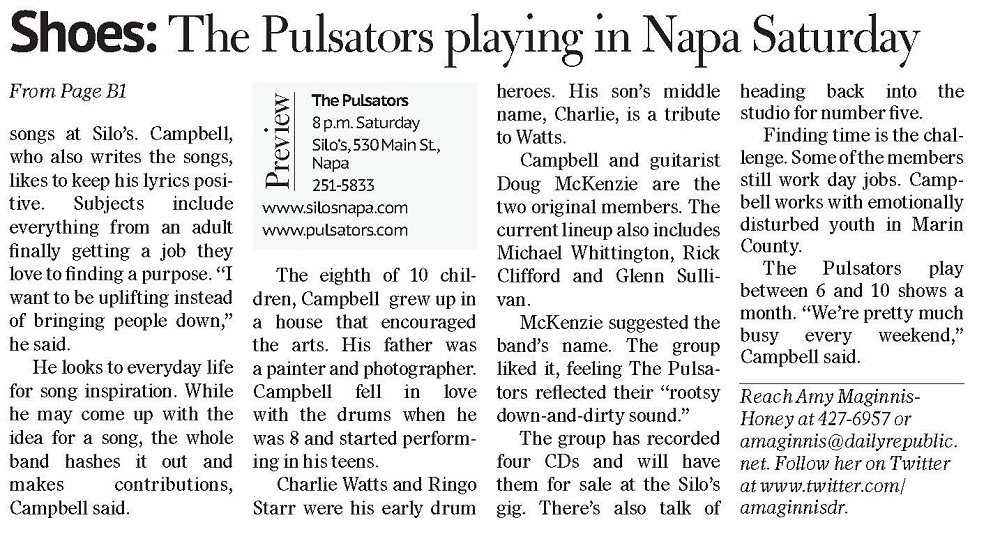 The Pulsators play Napa